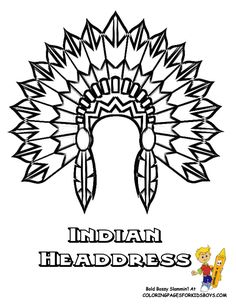 Free coloring page coloring-indian-headdress. The Indian