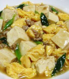 豆腐と炒り卵のオイスターソース煮 拡大