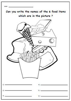 FOOD MENU FRENCH. Activity Worksheet for Primary