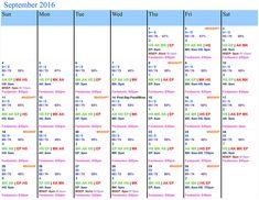 September 2016 Disney Crowd Calendar