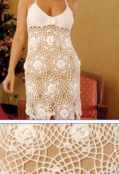 Crochet Dress ~ Bodice Reference, with full pattern