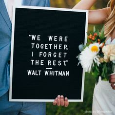 """""""We were together. I forget the rest."""" —Walt Whitman quote. The Letterfolk Writer is a bold, signature piece for any space. Ideal for wordier messages or poignant brevity, this letter board provides adequate real estate for unlimited personalization."""