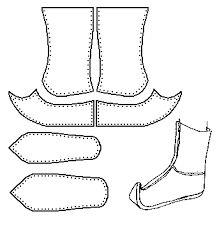 """Képtalálat a következőre: """"török cipő szabásminta"""""""