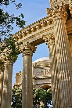 Columns, Palace of Fine Arts -San Francsico, California