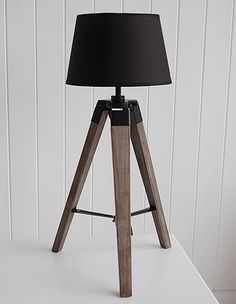 Wooden Tripod Lamp - Country Cottage Accessories