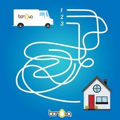 ¿Cuál será el caminito que el camión de Bonovo debe tomar? ¡Ayúdalo a que no se pierda! #Bonovo #SaldelCascarón #Huevos #Cocina #Food #Comida #Delicioso
