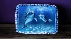 Papierowa wiklina Moniki Koszyczek z delfinami