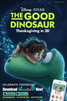MomCo has partnered with Disney/Pixar to celebrate friendship and The Good Dinosaur! Download now!