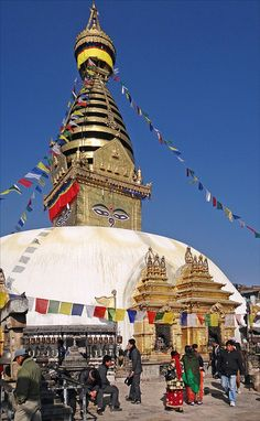 Le stupa de Swayambhunath à Katmandou
