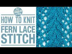 The Fern Lace Stitch :: Knitting Stitch #123