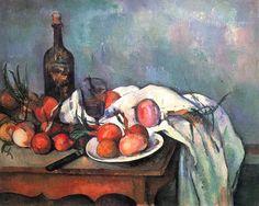 Naturaleza muerta con cebollas,  Paul Cézanne. 1896-1898.