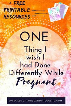 One Thing To Do Differently While Pregnant- This is the one thing most women wish they had done different while pregnant.  Don't wait until its too late and do this one thing WHILE PREGNANT!  + Get access to a FREE Resource Library with all your mothering