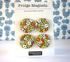 Hey, I found this really awesome Etsy listing at http://www.etsy.com/listing/130658615/retro-flowers-fridge-magnets-pack-of-4