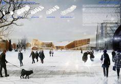 Biblioteca Central de Helsinki – Menção Honrosa – The Diagonal Agora | concursosdeprojeto.org