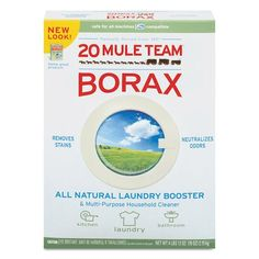 20 Mule Team Borax Laundry Booster, Powder, 4 Lb Box Homemade Cleaning Products, Cleaning Recipes, House Cleaning Tips, Natural Cleaning Products, Cleaning Hacks, Cleaning Supplies, Borax Cleaning, Cleaning Quotes, Floor Cleaning