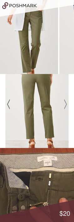 J. Jill live in chinos ankle pants sz 14 So soft. Has that worn in look. Great pants to stay comfortable in. J. Jill Pants Ankle & Cropped
