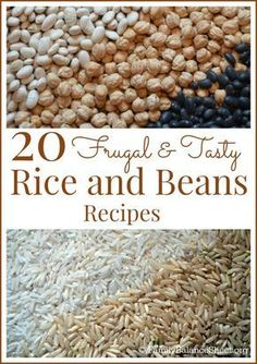 Looking for but tasty recipes? Rice and beans are a delicious way to keep your grocery budget in line without sacrificing taste. This list of recipes offers a variety of delicious ways to add these versatile, yet inexpensive ingredients into your menu. Frugal Meals, Cheap Meals, Budget Meals, Easy Meals, Frugal Recipes, Inexpensive Meals, Budget Binder, Freezer Meals, Nice Meals