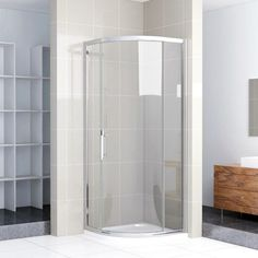1000x1000mm Walk In Quadrant Shower Enclosure Glass Screen Corner Cubicle Door N