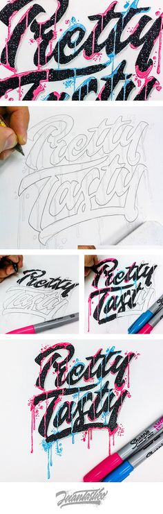 Typography Illustrations on Behance Creative Typography, Typographic Design, Typography Letters, Graphic Design Typography, Lettering Design, Hand Drawn Typography, Typography Served, Typography Inspiration, Graphic Design Inspiration
