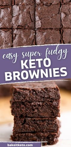 These keto brownies are so easy and fudgy! They're made with coconut flour and cocoa powder, so no almond flour needed. By far the best keto brownies recipe I've made.
