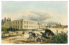 -Casa de Beneficencia en la Habana-Isla de Cuba Pintoresca-1839- Frédéric Mialhe-