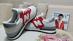 Men And Women New Balance 990 NB990 Shoes Nubuck A  Gray Red|only US$75.00 - follow me to pick up couopons.