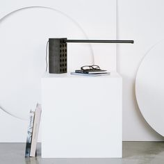 Brick Lamp |  A nod to the brick – beautiful in its own right. Aesthetically blunt yet stylish and functional, an adjustable LED task lamp for your desk or shelf. | Umbra Shift, design by Philippe Malouin #lighting #design