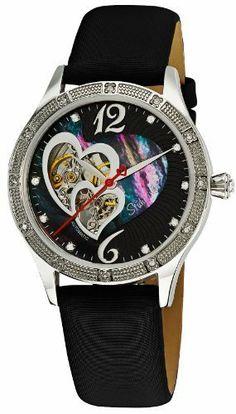 Stuhrling Original Women's 196A.121B1 Gala Harmony Automatic Skeleton Swarovski Mother of Pearl Black Watch Stuhrling Original. $169.99