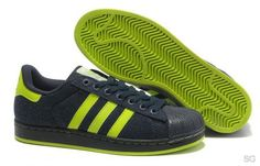 release date 6003c 7ded9 Adidas Superstar II Dark Navy Volt Shoes Discounts, absolutely authentic,  welcome you to visit, we wholeheartedly for your service.