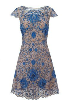 Blue n creame lace