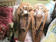 Wooden Snow Shoes Primitive Handmade by Daysgonebytreasures, $150.00