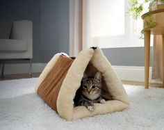 2 In 1 Pet Bed £12  2 in 1 tunnel bed & mat provides a cosy cave for your pet to lounge and play. Features a thermo-reflective core which reflects body heat for a toasty surface and traps hair like a magnet for fur free furniture. Zips from a mat to a bed in seconds. Machine washable. Size when flat L87 x W60cm. 100% polyester.  Code: 905291  Kleeneze KLife Animals Cat Dog