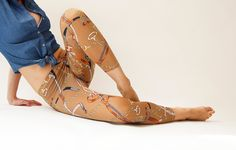 From my talented fellow Etsian Miki in Israel ~ Camel printed leggings with Retro style print by MikiBeFashion, $35.00