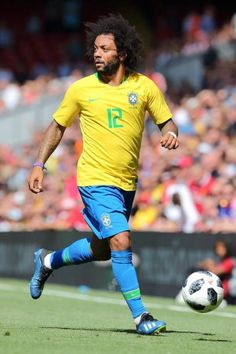 Marcelo of Brazil during the International friendly match between. Marcelo Real, Brazil Football Team, Real Madrid Wallpapers, Real Madrid Players, Messi And Ronaldo, Football Design, Neymar Jr, Man Humor, Football Players