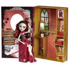 """Ever After High, Księga Baśniowiosny ,Lizzie Hearts, CDM54: Co roku w Ever After High™ organizowane jest baśniowe święto, podczas którego uczniowie przygotowują najbardziej urzekające stroje.  Dołączona do tej Księgi inspirowanej filmem """"Święto Baśniowiosny"""" lalka Lizzie Hearts™, córka Królowej Kier z Krainy Czarów, wygląda wspaniale wystrojona w luksusową suknię z kwiatowymi motywami i niezwykłe dodatki."""