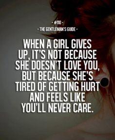 No more hurting