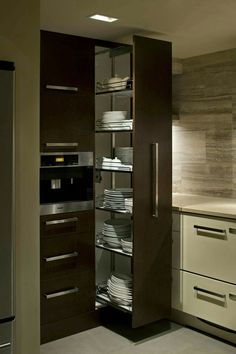 #Modernkitchenpantry Kitchen Backsplash, Small Kitchenette, Small Kitchen Pantry, Kitchen Pantry Design, Kitchen Drawers, Modern Kitchen Cabinets, Kitchen Organization, Home Decor Kitchen, Kitchen Storage