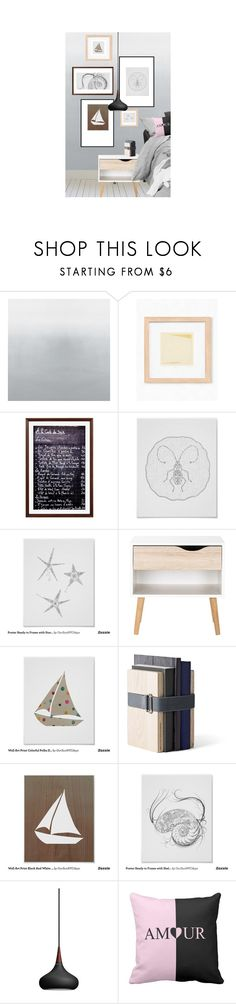 """Scandinavian Bedroom Decor"" by oursunnycdays ❤ liked on Polyvore featuring interior, interiors, interior design, home, home decor, interior decorating, Pottery Barn, WALL, Menu and Lightyears"