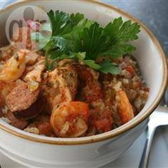 All Recipes | Chicken & prawn jambalaya (slow cooker)