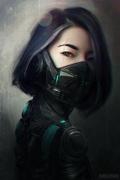 ArtStation - CyberWarrior, Sandra Posada