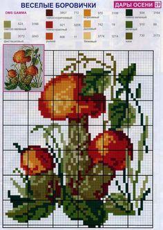 <3 Cross Stitch Fruit, Cross Stitch Kitchen, Cross Stitch Flowers, Blackwork Patterns, Embroidery Patterns, Cross Stitch Charts, Cross Stitch Patterns, Cross Stitching, Cross Stitch Embroidery
