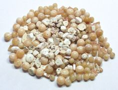 Mixed Lot of Stone Beads in Creams and Golds by BeadsFromHaven, $10.12