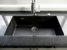 Sink Taps, Sinks, Stone Bench, White Quartz, Kitchenware, Kitchen Design, Colours, Tops, Home Decor
