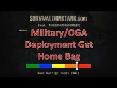 Overseas Get Home Bag A great article regarding overseas travel and special consideration's, written for a target audience of military personnel but easily adaptable to anyone. Check it out.