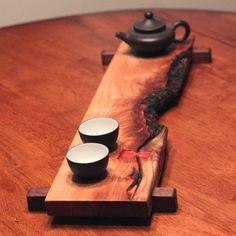 Live Edge Tea Stand..
