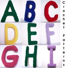 Ravelry: All the ABCs --- complete capital and lowercase alphabet letter set. Must buy!!
