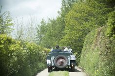 Bride and groom in vintage car along country lanes // Jennie Hill Photography // The Natural Wedding Company Wedding Company, Farm Wedding, Devon, Bride Groom, Vintage Cars, Wild Flowers, Bouquet, Rustic, Country