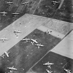 Discarded parachutes and Airspeed Horsa gliders lie scattered over Airborne Division's landing zone near Ranville in Normandy, 6 June Royal Air Force official photographer Canadian Soldiers, American Soldiers, Le Jour Le Plus Long, Diorama, D Day Normandy, Normandy Tours, Pilot, D Day Invasion, Operation Market Garden