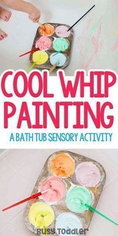 Cool Whip Painting: What an awesome toddler activity!!