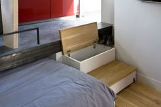 130 square foot apartment. Really like the steps as storage space idea. - To connect with us, and our community of people from Australia and around the world, learning how to live large in small places, visit us at www.Facebook.com/TinyHousesAustralia